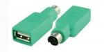 Переходник USB PS/2 (m) - USB A(f), зеленый